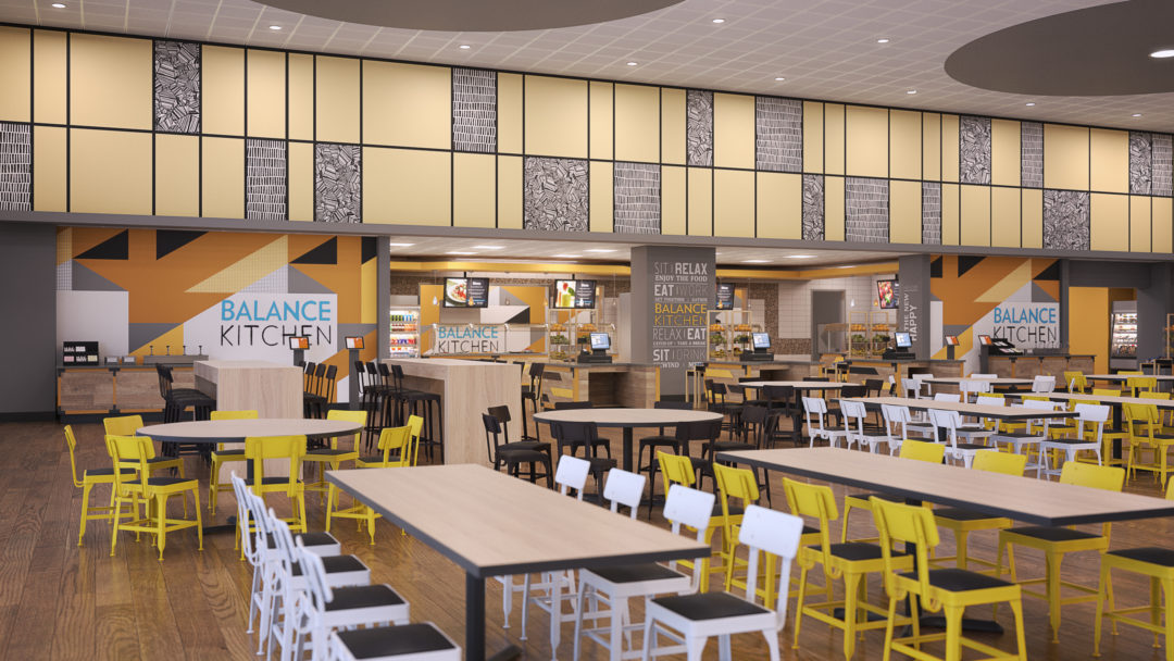 warren high school cafeteria general contractor design build